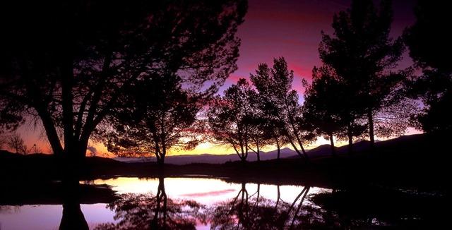 background matahari terbenam 09